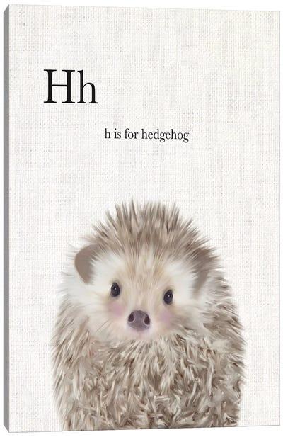 Baby Hedgehog Linen Canvas Art Print