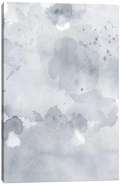 Grey Blue Abstract Canvas Art Print