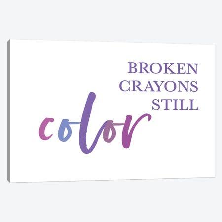 Broken Crayons II 3-Piece Canvas #LEH223} by Leah Straatsma Art Print