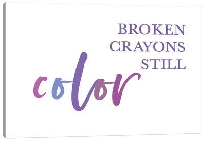 Broken Crayons II Canvas Art Print