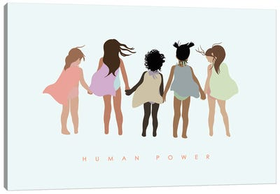 Human Power With Capes Canvas Art Print