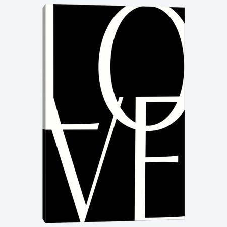 B&W LOVE Canvas Print #LEH230} by Leah Straatsma Canvas Art