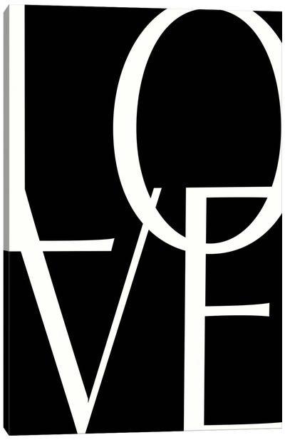 B&W LOVE Canvas Art Print