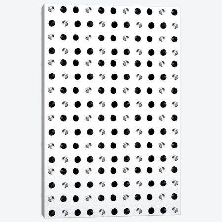 Black Dots Canvas Print #LEH231} by Leah Straatsma Canvas Wall Art