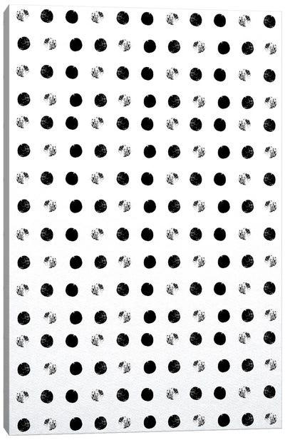 Black Dots Canvas Art Print
