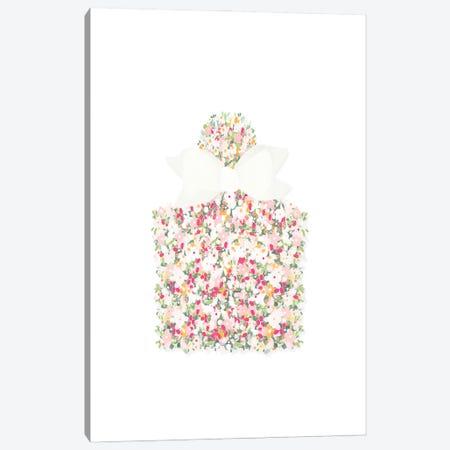 Floral Perfume Bottle Canvas Print #LEH233} by Leah Straatsma Canvas Artwork