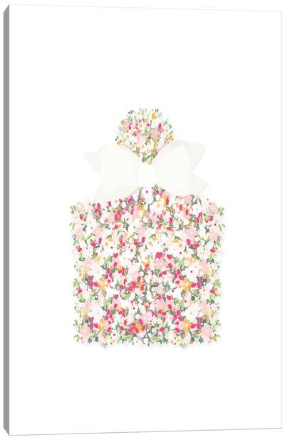 Floral Perfume Bottle Canvas Art Print