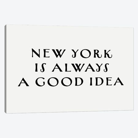 New York Good Idea Canvas Print #LEH235} by Leah Straatsma Canvas Art Print
