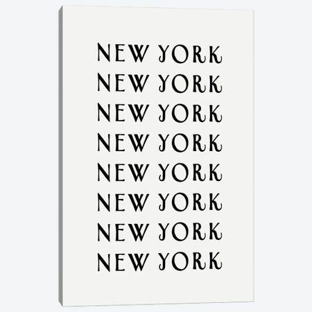 NY NY NY Canvas Print #LEH236} by Leah Straatsma Canvas Print