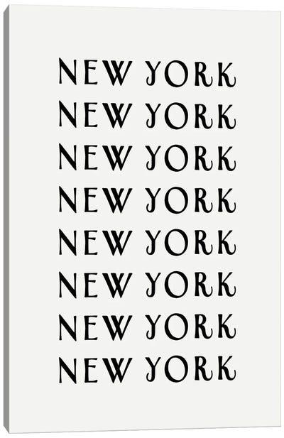 NY NY NY Canvas Art Print