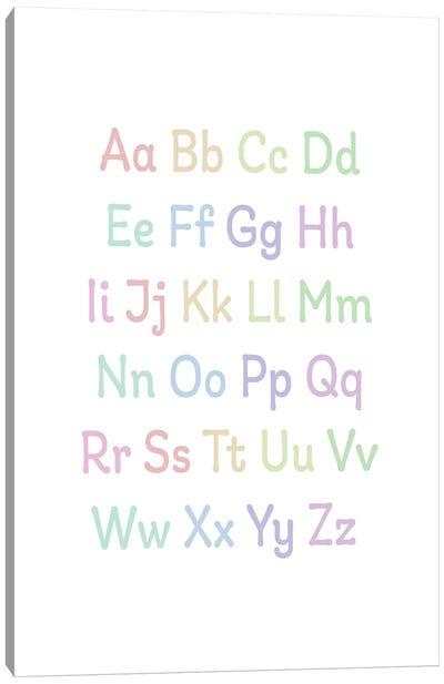 Alphabet Pastels Canvas Art Print
