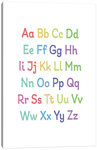 Alphabet Primary Canvas Art Print