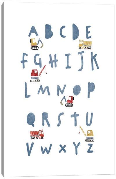 Construction Alphabet Canvas Art Print