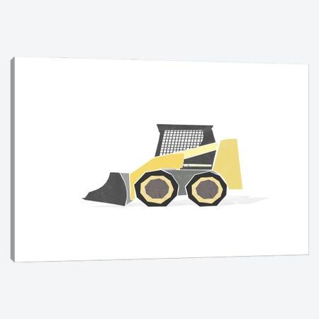 Construction Loader Yellow Canvas Print #LEH243} by Leah Straatsma Canvas Print