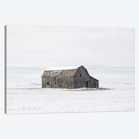 Barn in Winter Canvas Print #LEH24} by Leah Straatsma Canvas Print