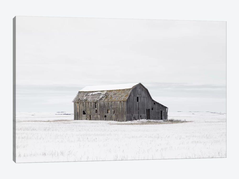 Barn in Winter by Leah Straatsma 1-piece Canvas Print