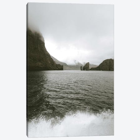 Moody Landscape With Crashing Waves Canvas Print #LEH265} by Leah Straatsma Canvas Artwork