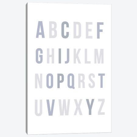 Blue Rainbow Alphabet Canvas Print #LEH31} by Leah Straatsma Art Print