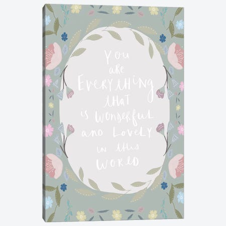 Border Everything Canvas Print #LEH36} by Leah Straatsma Canvas Artwork