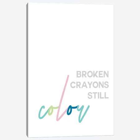Broken Crayons Canvas Print #LEH37} by Leah Straatsma Canvas Artwork