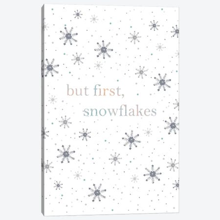But First Snowflakes Canvas Print #LEH39} by Leah Straatsma Canvas Print