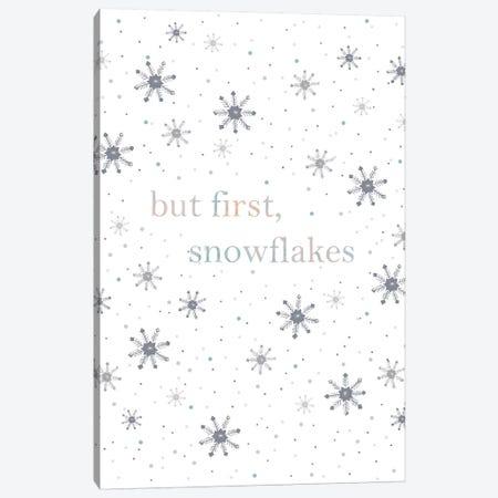 But First Snowflakes Canvas Print #LEH39} by Leah Straatsma Canvas Print