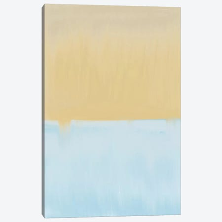 Abstract Blue And Yellow Canvas Print #LEH3} by Leah Straatsma Canvas Art
