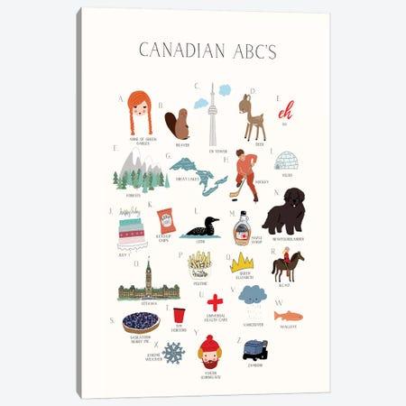 Canadian ABCs Canvas Print #LEH44} by Leah Straatsma Canvas Art Print