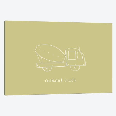 Cement Truck Canvas Print #LEH48} by Leah Straatsma Canvas Wall Art