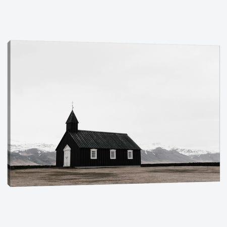 Church and Mountains Canvas Print #LEH49} by Leah Straatsma Canvas Artwork