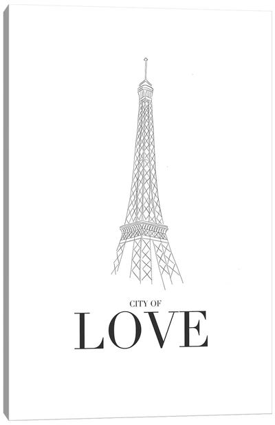 City Of Love Canvas Art Print