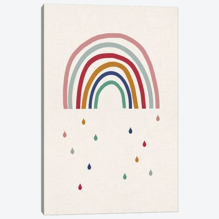 Crying Rainbow Canvas Print #LEH57} by Leah Straatsma Canvas Wall Art