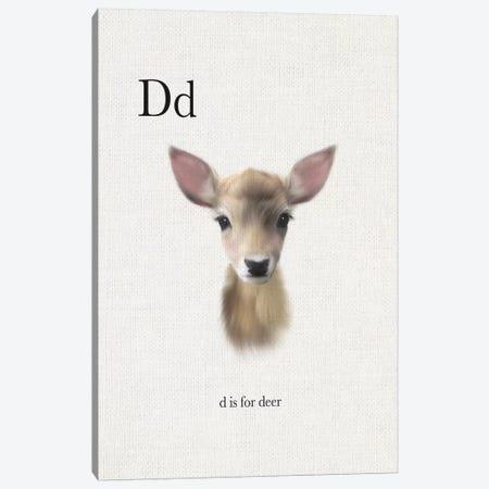 D is for Deer Canvas Print #LEH59} by Leah Straatsma Canvas Art Print