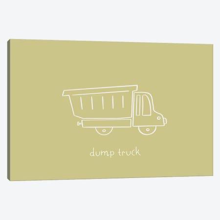 Dump Truck Canvas Print #LEH62} by Leah Straatsma Canvas Art