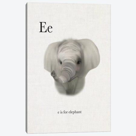 E is for Elephant Canvas Print #LEH63} by Leah Straatsma Canvas Artwork