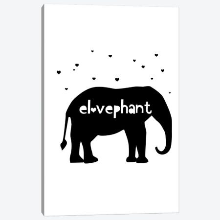 Elovephant Canvas Print #LEH67} by Leah Straatsma Art Print