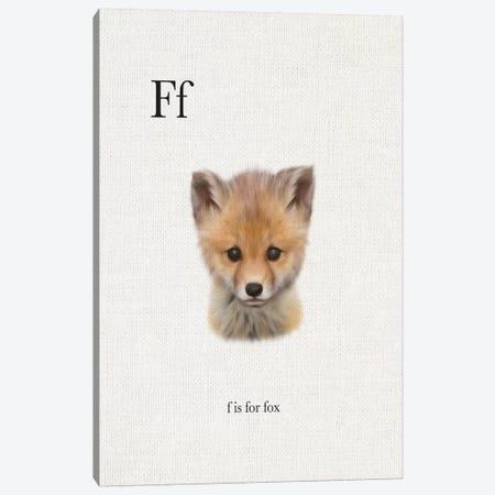 F is for Fox Canvas Print #LEH70} by Leah Straatsma Canvas Print