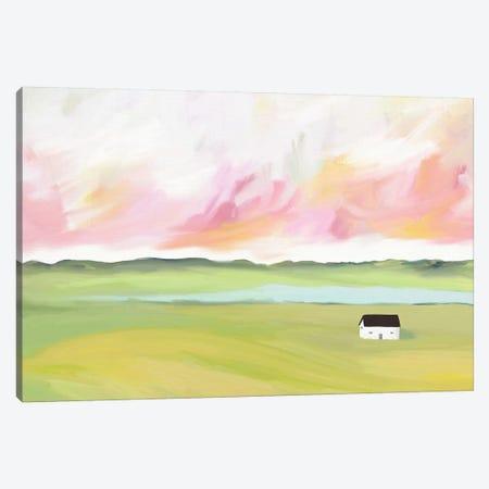 Farm House by The Lake Canvas Print #LEH72} by Leah Straatsma Art Print