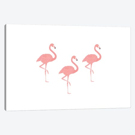 Flamingo Friends Canvas Print #LEH74} by Leah Straatsma Canvas Artwork