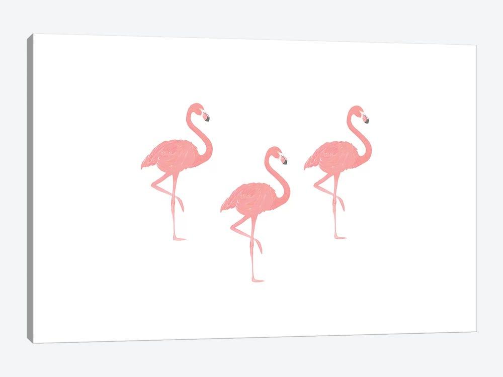 Flamingo Friends by Leah Straatsma 1-piece Canvas Art