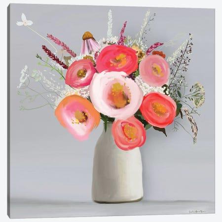 Floral in Vase II Canvas Print #LEH78} by Leah Straatsma Art Print