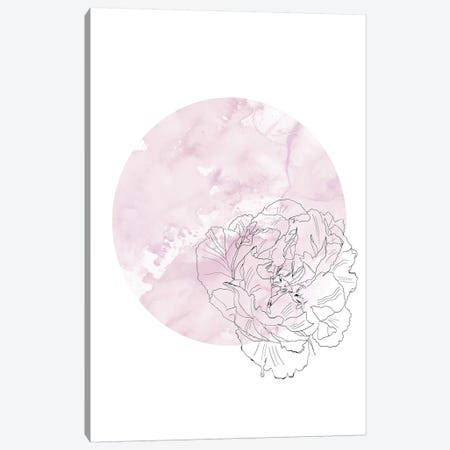 Abstract Peony Illustration Canvas Print #LEH7} by Leah Straatsma Canvas Art Print