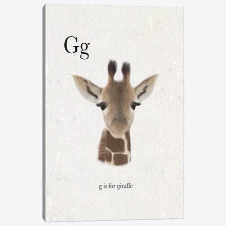 G is for Giraffe Canvas Print #LEH85} by Leah Straatsma Canvas Print