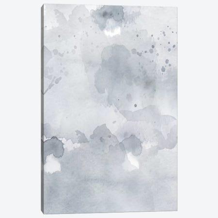 Grey Blue Abstract Canvas Print #LEH90} by Leah Straatsma Art Print