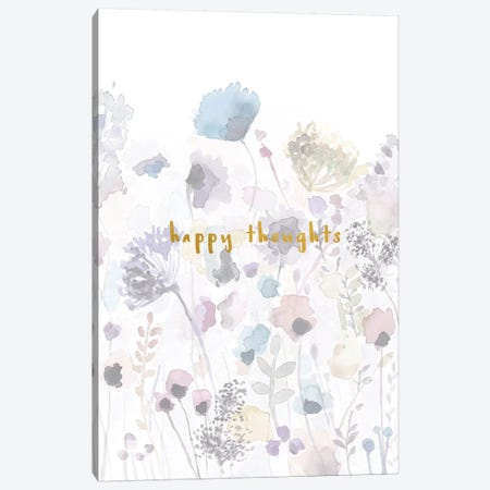 Happy Thoughts Canvas Print #LEH91} by Leah Straatsma Art Print