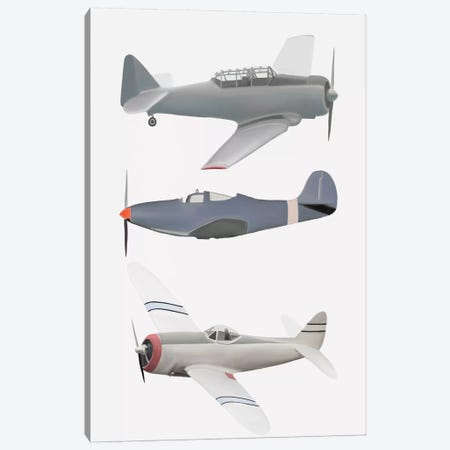 III Vintage Planes Canvas Print #LEH96} by Leah Straatsma Canvas Artwork