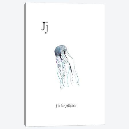 J is for Jellyfish Canvas Print #LEH97} by Leah Straatsma Canvas Art