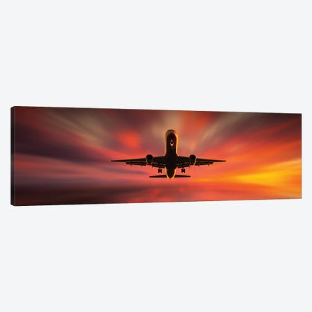 Colorful Landing. Canvas Print #LEI9} by Leif Londal Art Print