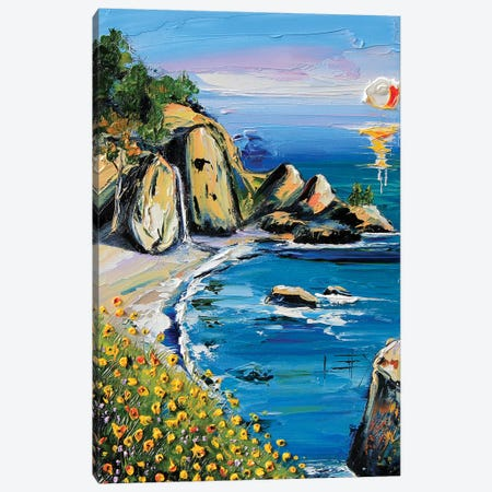 My Heart Is In Big Sur I 3-Piece Canvas #LEL100} by Lisa Elley Canvas Art Print