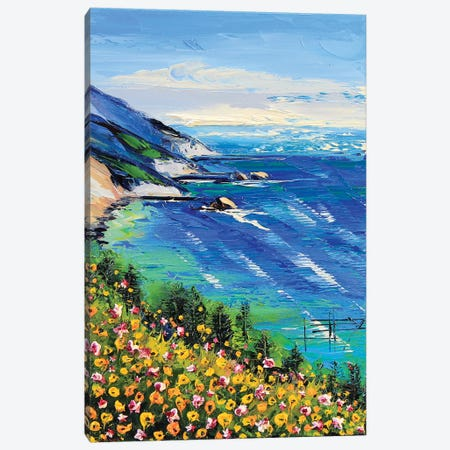 My Heart Is In Big Sur II Canvas Print #LEL101} by Lisa Elley Art Print